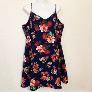 Ambiance Apparel Floral Skater Dress Plus Size 3XL
